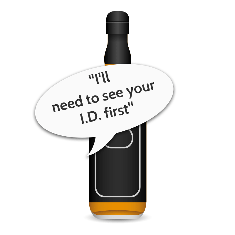 I.D. prompt before buying whisky, like a 401 status
